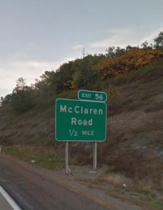 Suddenly it dawned on me....I know why it's called McClaren Road!