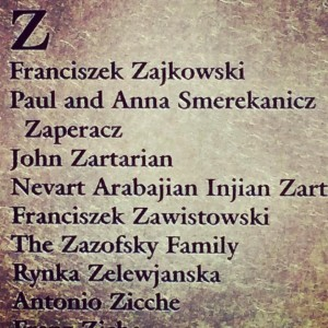 With the help of  family donations, I submitted my Great Grandparents, Paul and Anna Smerkanicz Zaperacz to the Wall of Honor at Ellis Island